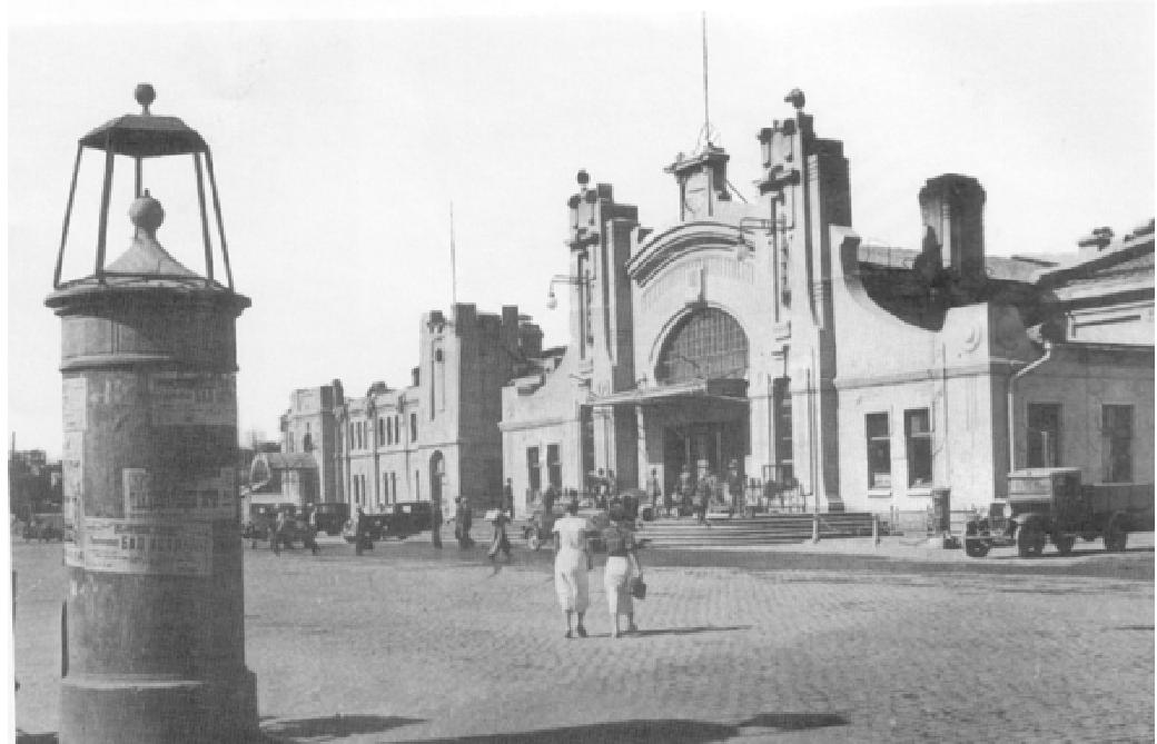 建成后的老哈尔滨火车站,有些人则称它是俄罗斯浪漫主义建筑.