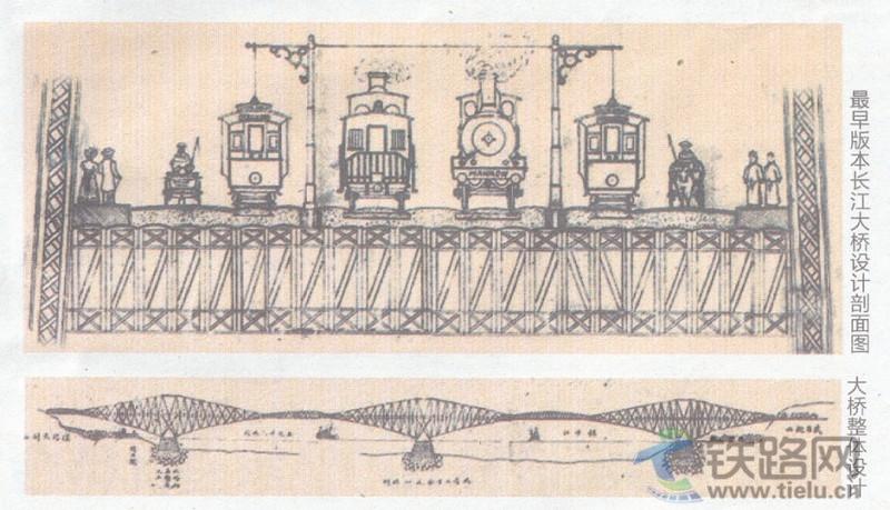 首页 铁路文艺  图一为詹天佑指导设计的最早的武汉长江大桥 图二为詹图片