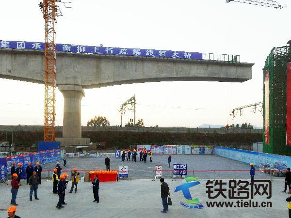 欧维姆公司担任转体施工的衡柳上行疏解线特大桥施工现场.jpg