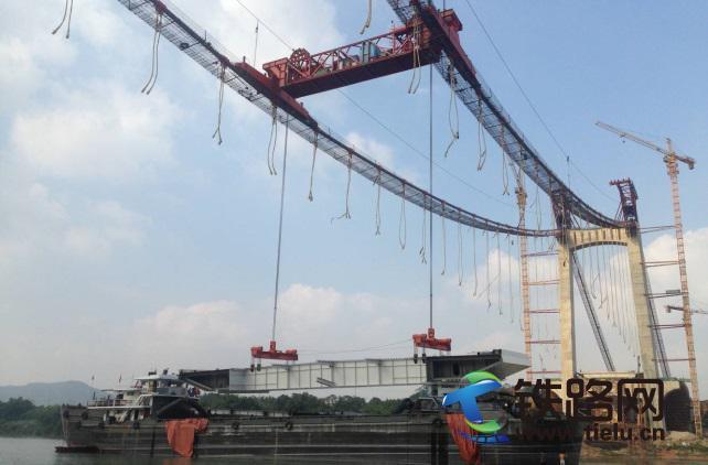 230T缆载吊机应用于南宁良庆大桥钢箱梁的吊装.jpg