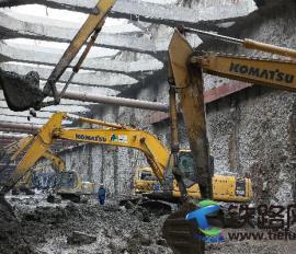中铁七局郑州公司新白广城际项目深基坑土石方开挖顺利完成