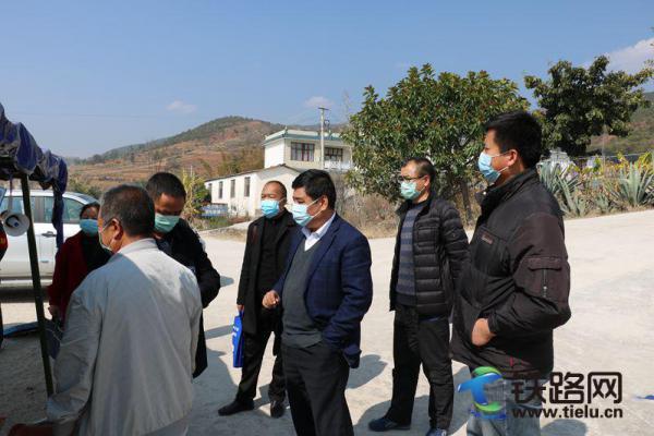 永平县铁建办、防疫中心等单位到大瑞项目检