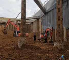 中铁七局合肥地铁4号线伊宁路站主体土方开挖圆满完成