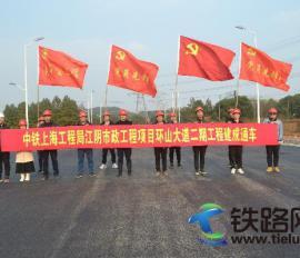 中铁上海工程局江阴PPP项目新建环山大道 工程全线贯通