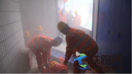 实验三中隧道项目成功举行消防应急演练